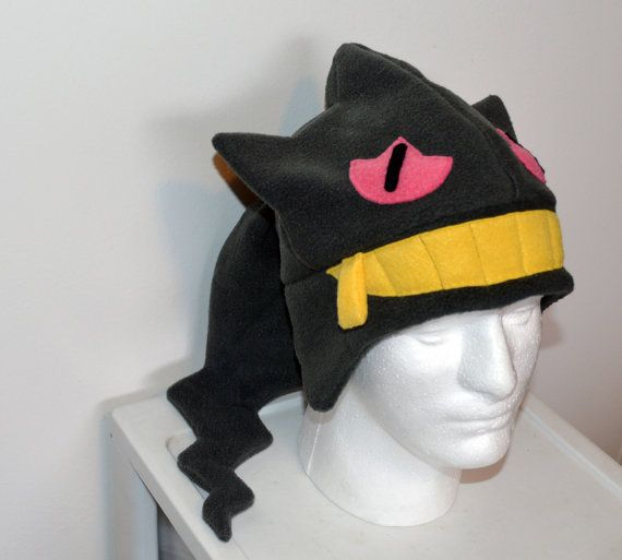 14eb145d07e Banette Pokemon Fleece Hat with Earflaps by GeekedOutHats on Etsy ...