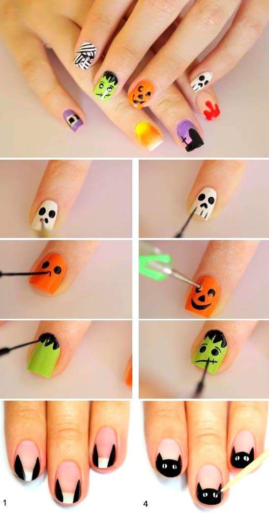 20 Frighteningly Pretty DIY Halloween Nail Art Tutorials that Are A ...