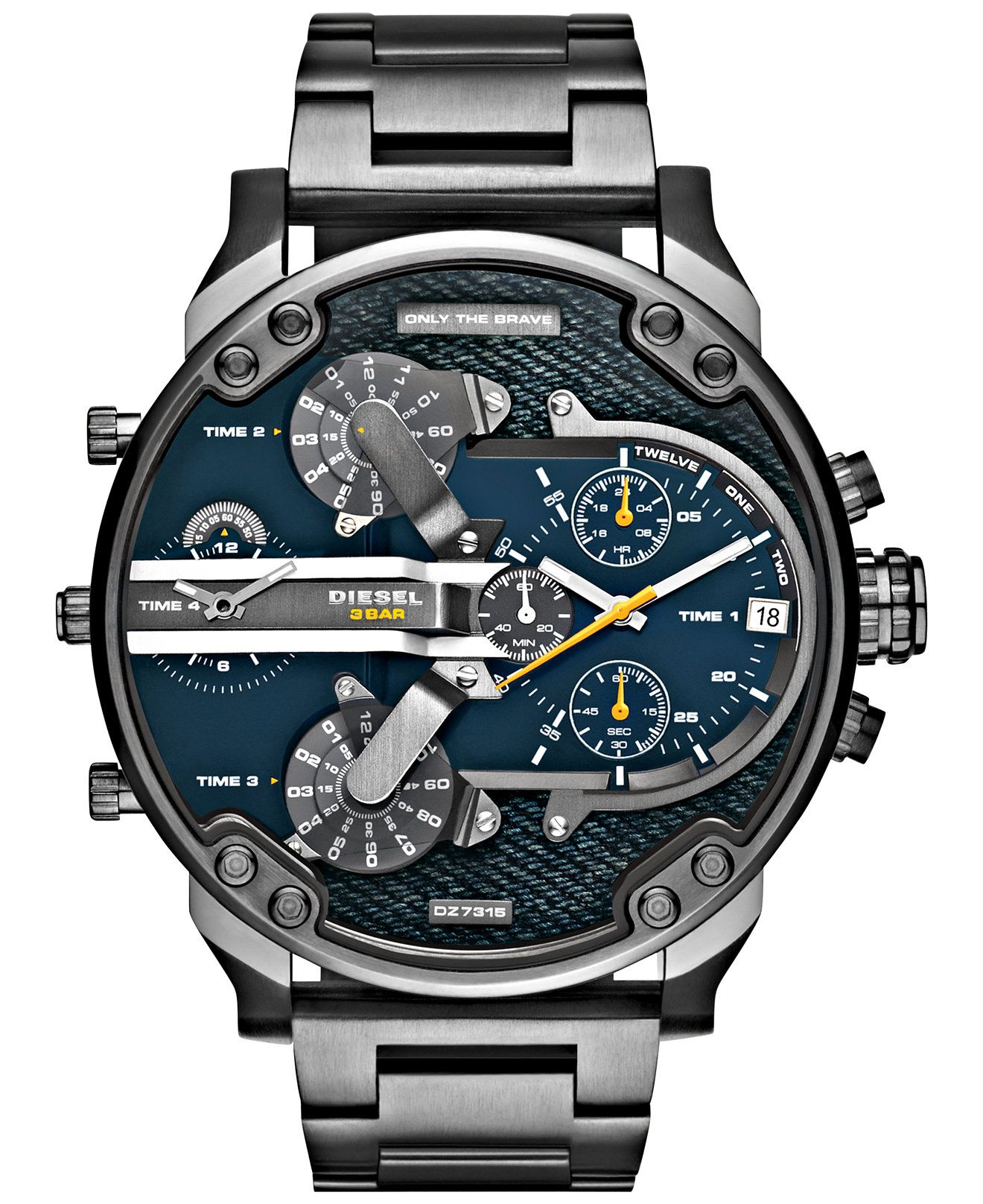 9faab93b91625 Diesel Men's Mr. Daddy 2.0 Gunmetal Ion-Plated Stainless Steel Bracelet  Watch 57mm DZ7331 - Watches - Jewelry & Watches - Macy's