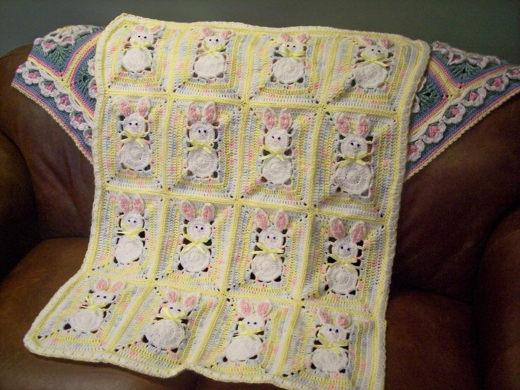 Crochet Bunny Blanket Pattern Topsimages