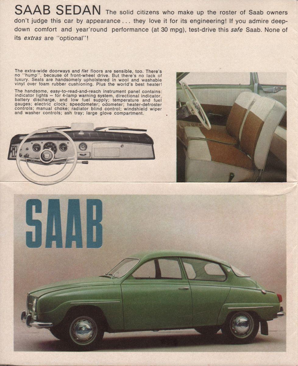 Saab Sales Brochure  Vintage European Iron