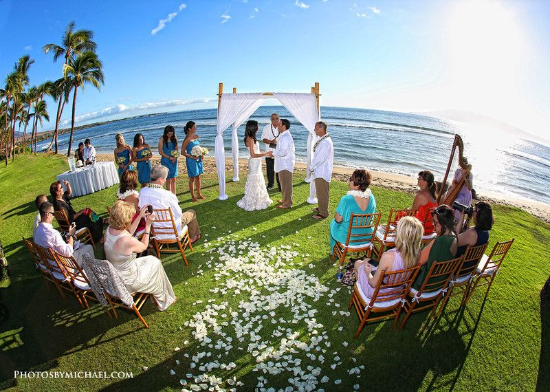 Hyatt Regency Maui Resort Spa Hawaii Venues Intimate Outdoor Wedding Ceremony By The