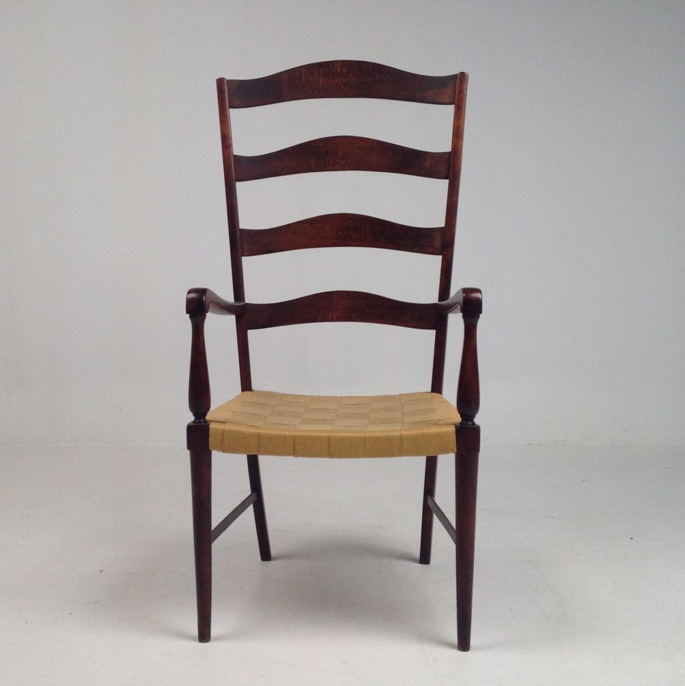 For sale high back wooden chair in shaker style 1990s