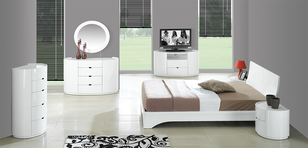 High Gloss White Bedroom Furniture, White Lacquer Bedroom Furniture Nz