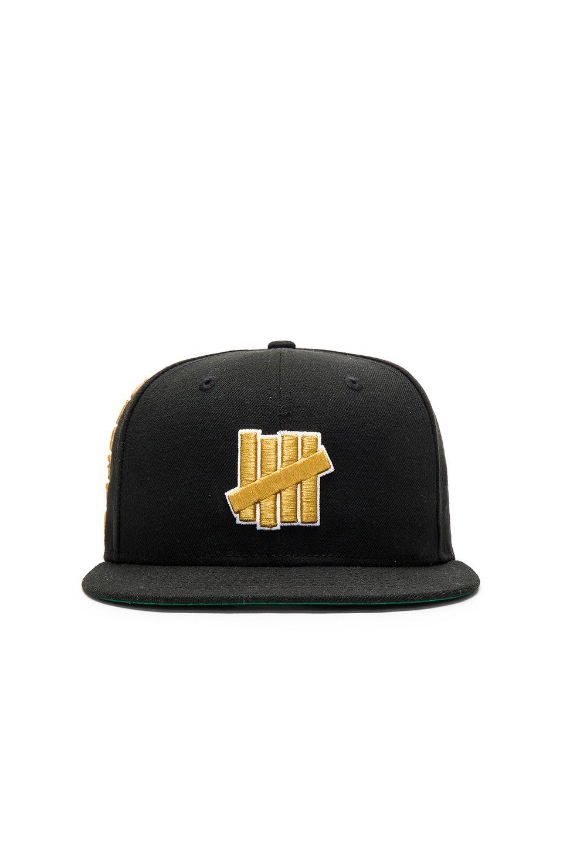 f25231c817b16 Undefeated 5 Strike New Era Cap in Black