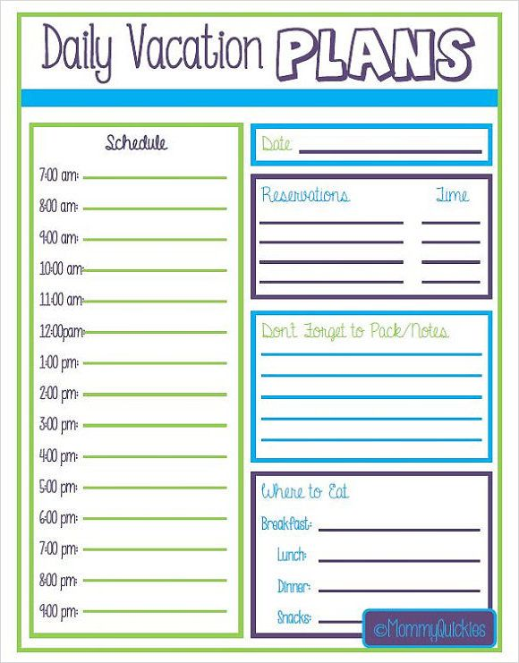 Vacation Itinerary Template 7 Download Free Documents In Pdf Word