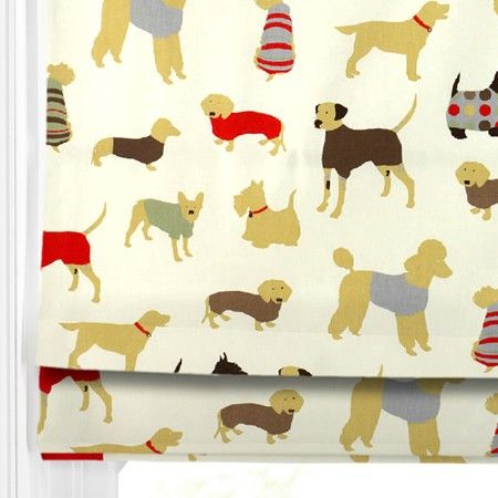 MANS BEST FRIEND - fun Roman Blinds design - great for a playroom. #blinds #home decor #dogs #247