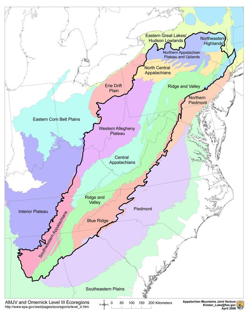 Google Image Result For HttpwwwamjvorgImages - Eastern us mountain ranges map