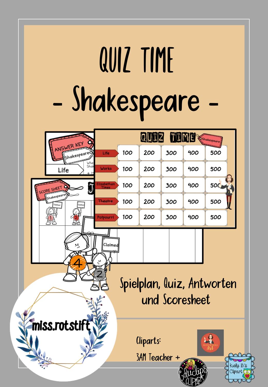 Spielplan Englisch