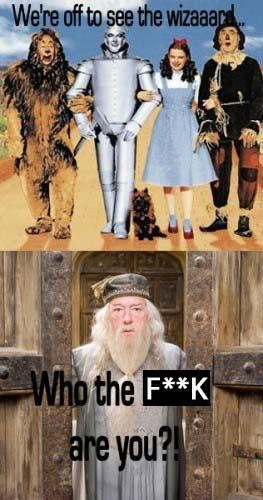 ...bet they're Hufflepuffs...finding shit and whatnot...