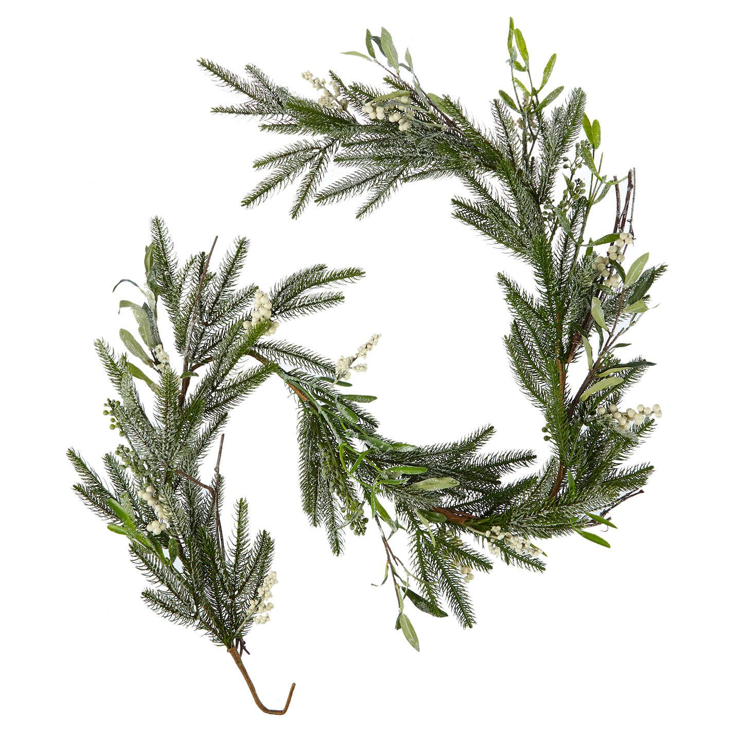 BuyJohn Lewis Winter Palace Frosted Pine and Mistletoe Garland