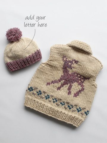 Granted Clothing — Kids Fawn Vest and Monogrammed Toque ...