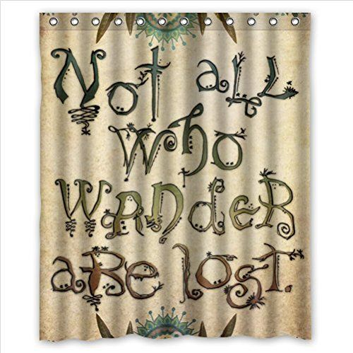 Superieur Not All Who Wander Are Lost,funny Popular Quotes Art Polyester Fabric  Custom Home Decor