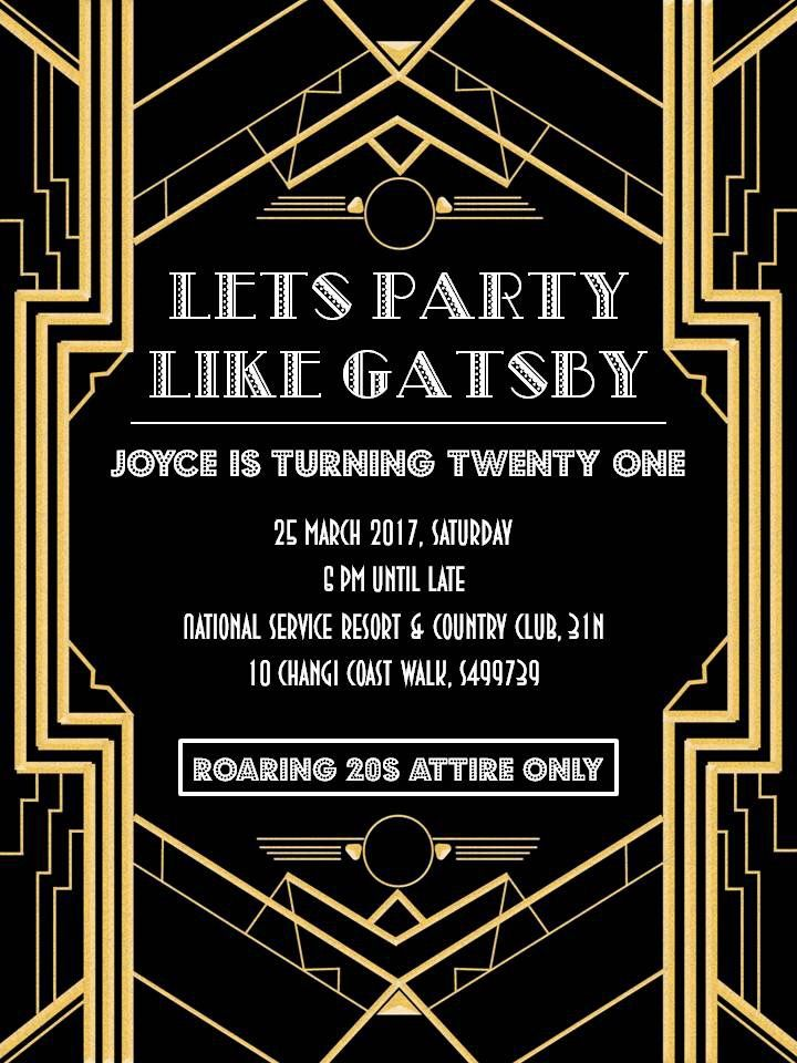 Great Gatsby Party Invitation The Great Gatsby Party Pinterest