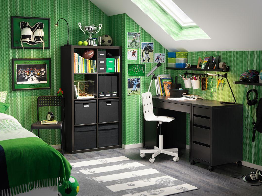 Workspaces Inspiration Micke desk, Black desk, Ikea micke