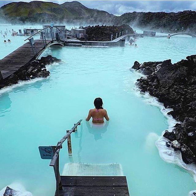 Blue Lagoon, Iceland Photo by:  @threeifbysea