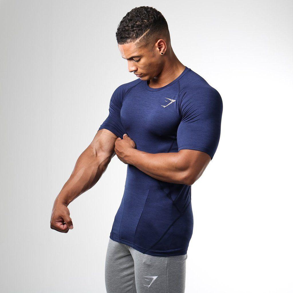 choose best popular design well known Gymshark Apex T-Shirt - Sapphire Blue   gym shark in 2019 ...