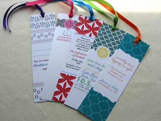 This Looks Inexpensive And Is A Nice Keepsake People Could Keep In A Photo  Album As · Diy BookmarksBookmark IdeasWedding ...