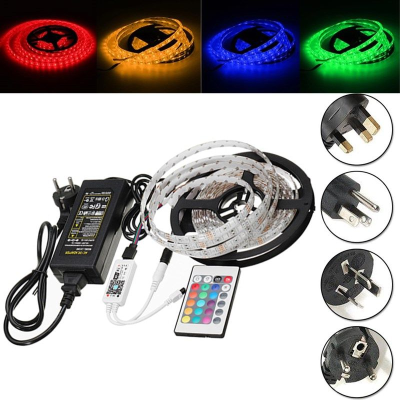 Dc12v 5m 60w smd5050 waterproof rgb led strip light wifi dc12v 5m 60w smd5050 waterproof rgb led strip light wifi controller remote control aloadofball Image collections