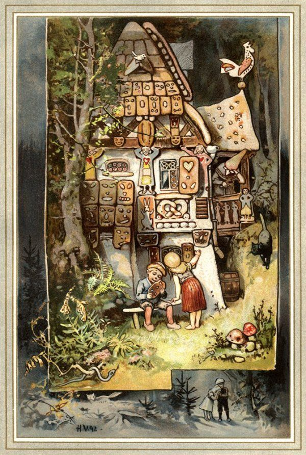 charles vess greenman press hansel gretel at the witch 39 s gingerbread cottage by hermann. Black Bedroom Furniture Sets. Home Design Ideas