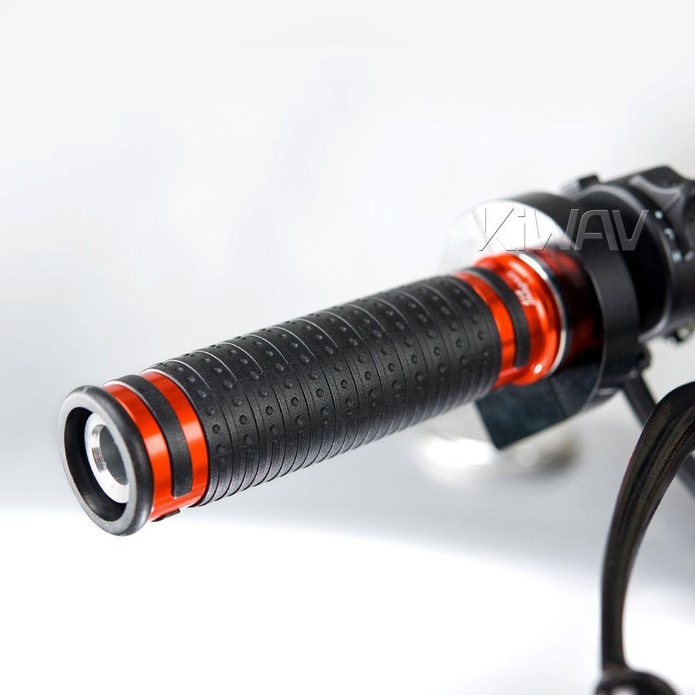 Cyber grips anodized aluminum orange trim a pair 25mm&22mm