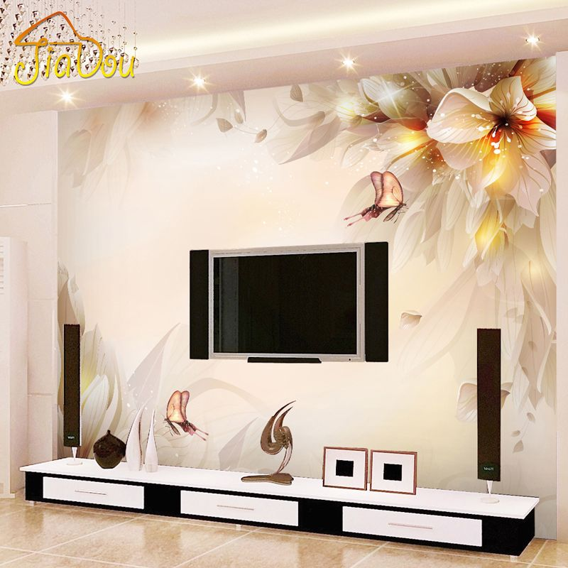 Custom photo wall paper  stereo minimalist modern living room tv backdrop mural environmental protection non also rh pinterest