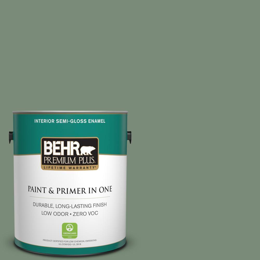BEHR Premium Plus 1-gal. #450F-5 Amazon Moss Zero VOC