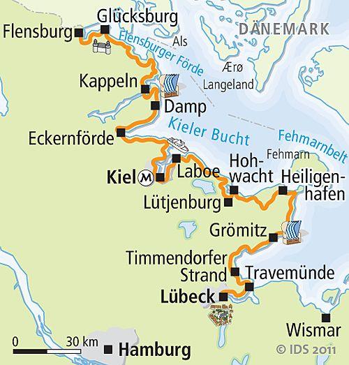 Ostsee-Radweg Flensburg Lübeck - Radreise Radurlaub
