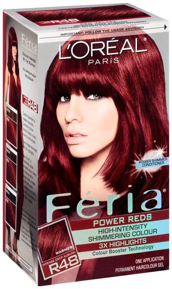 Amazon.com : Feria Power Reds Hair Color, R57 Intense