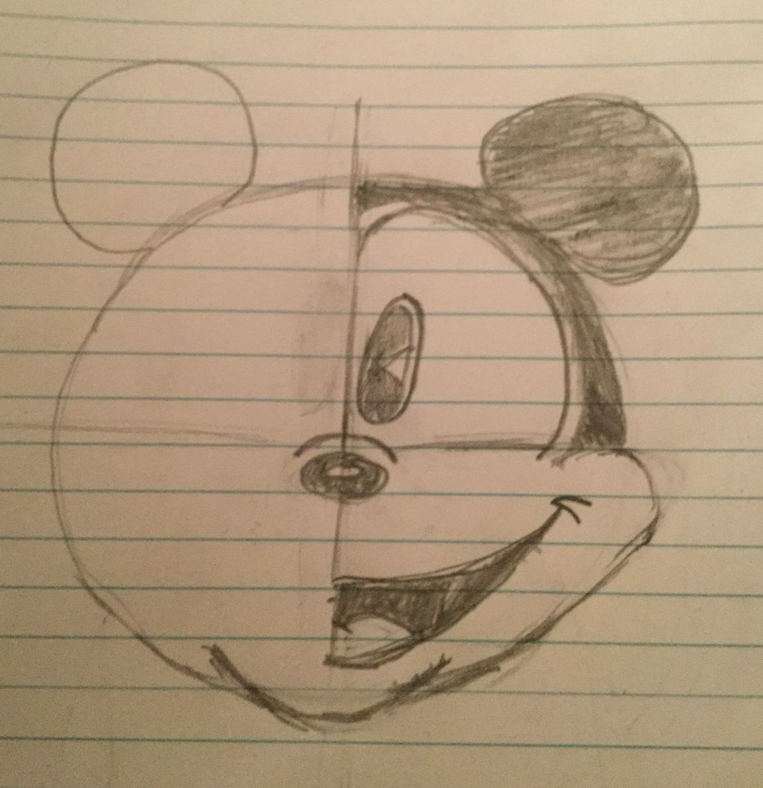 Half of Mickey Mouse