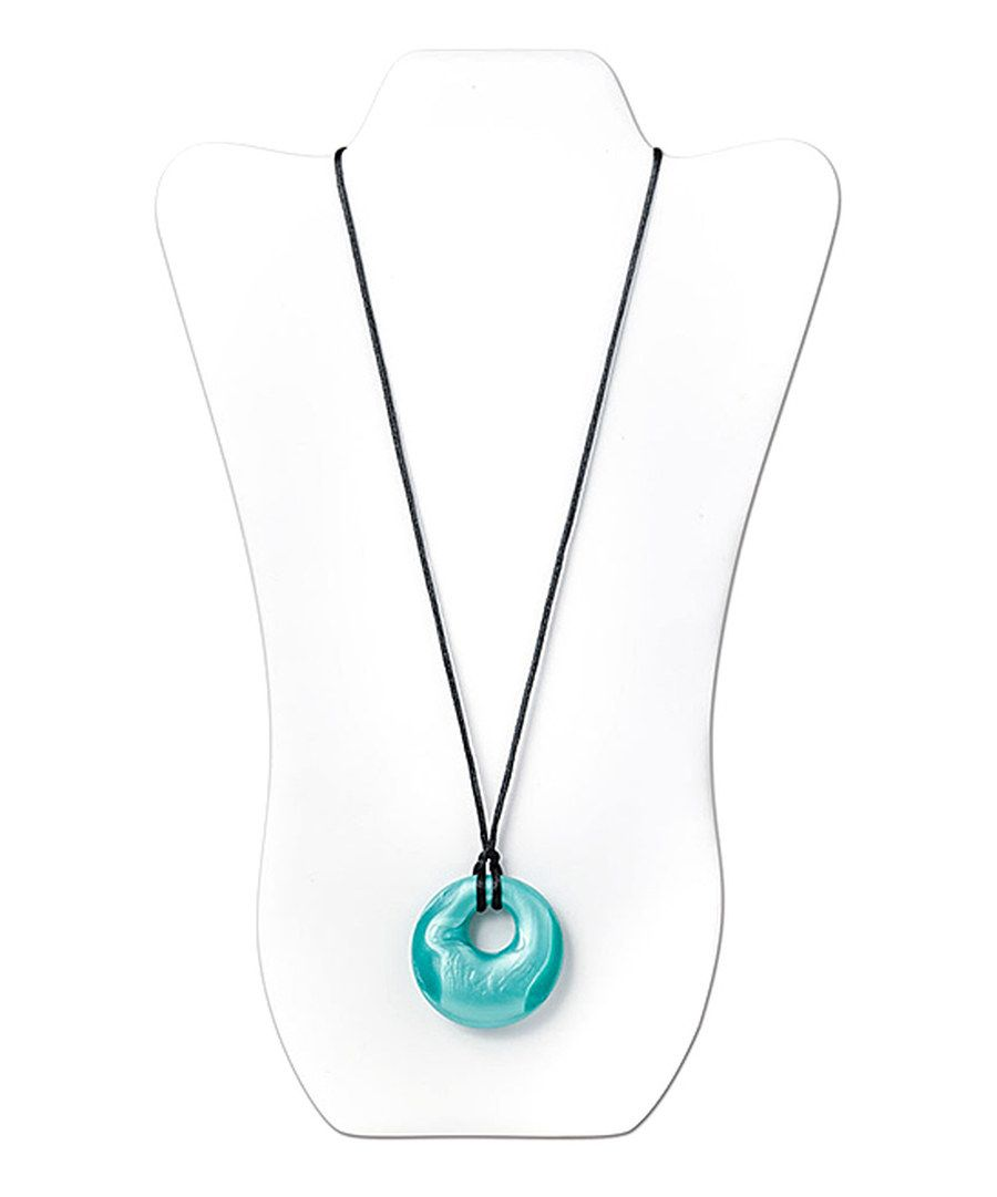 Look at this Nixi Aquamarine Gemma Teething Necklace on #zulily today!