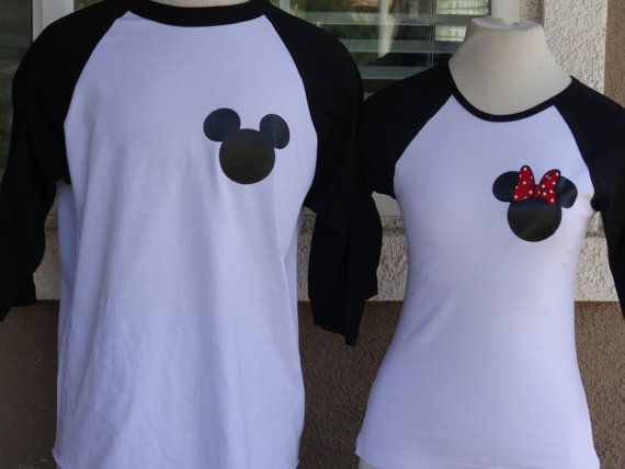 Disney inspired couples baseball tshirts happily ever for Disney happily ever after shirt