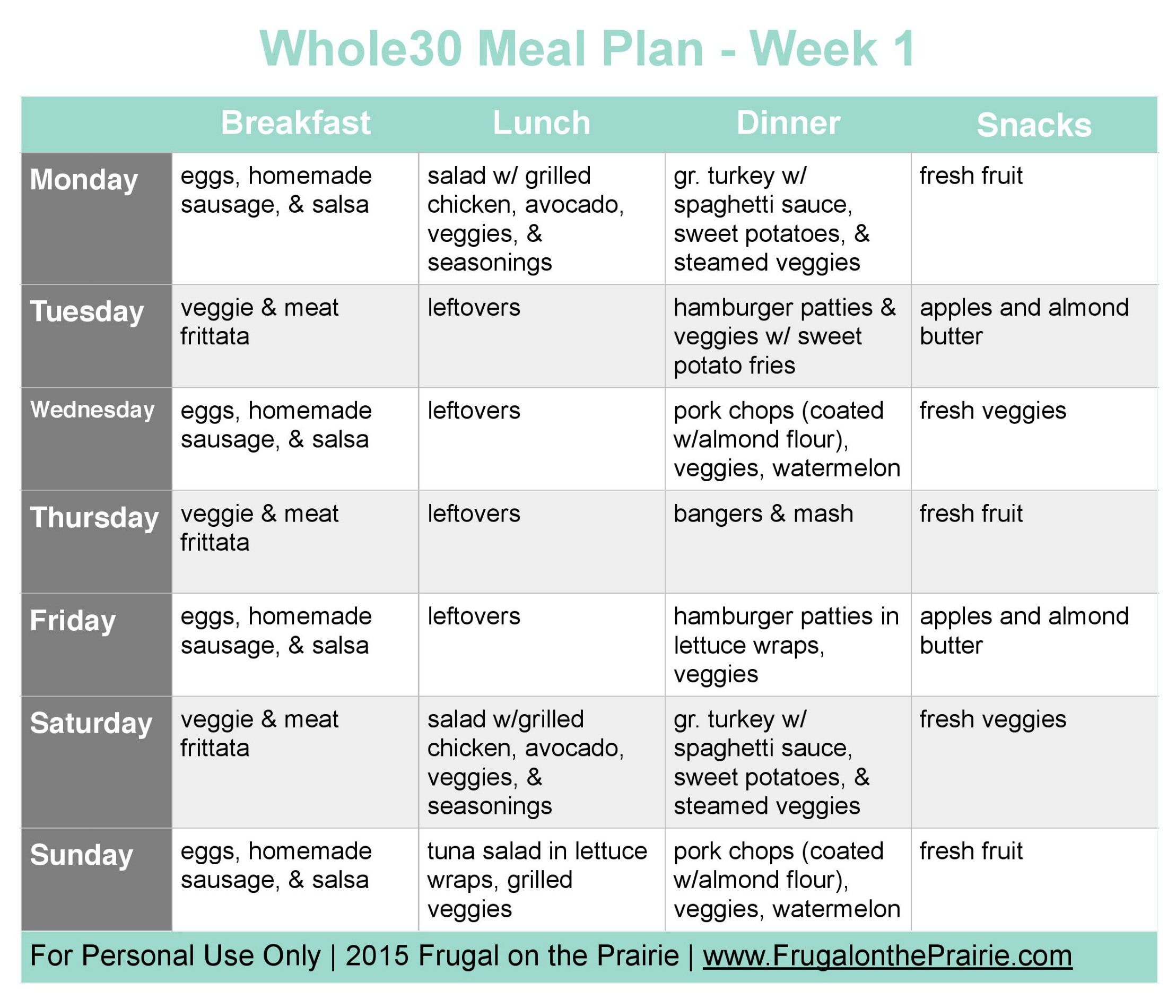 The Busy Person S Whole30 Meal Plan Week 1 Allison Lindstrom Advice On How A Blog Works Whole 30 Meal Plan Whole 30 Recipes Whole 30