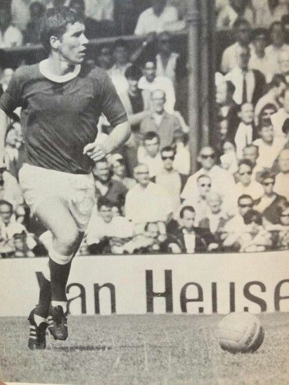 Alan Ball with the Everton Football Club.