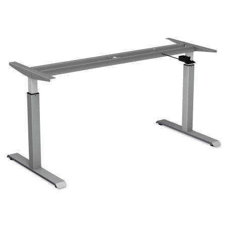 Minimalist Alera Pneumatic Height Adjustable Table Base 26 1 4 inch to 39 3 8 inch High Gray Simple - Awesome telescoping table legs Simple Elegant