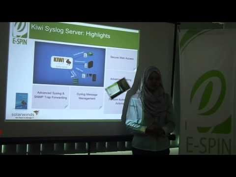 Solarwinds Kiwi Syslog Server Product Overview by E-SPIN