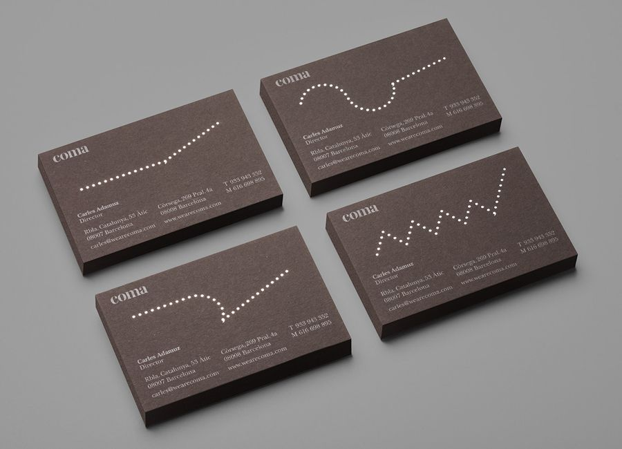 New Logo And Brand Identity For Coma By Mucho Bp O Business Card Gallery Business Card Design Beautiful Business Card