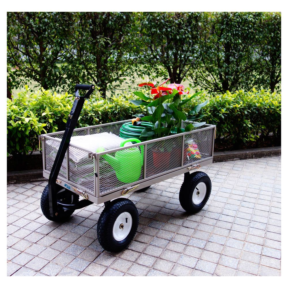 Exceptional Steel Garden Cart With Liner   Masters Home Improvement