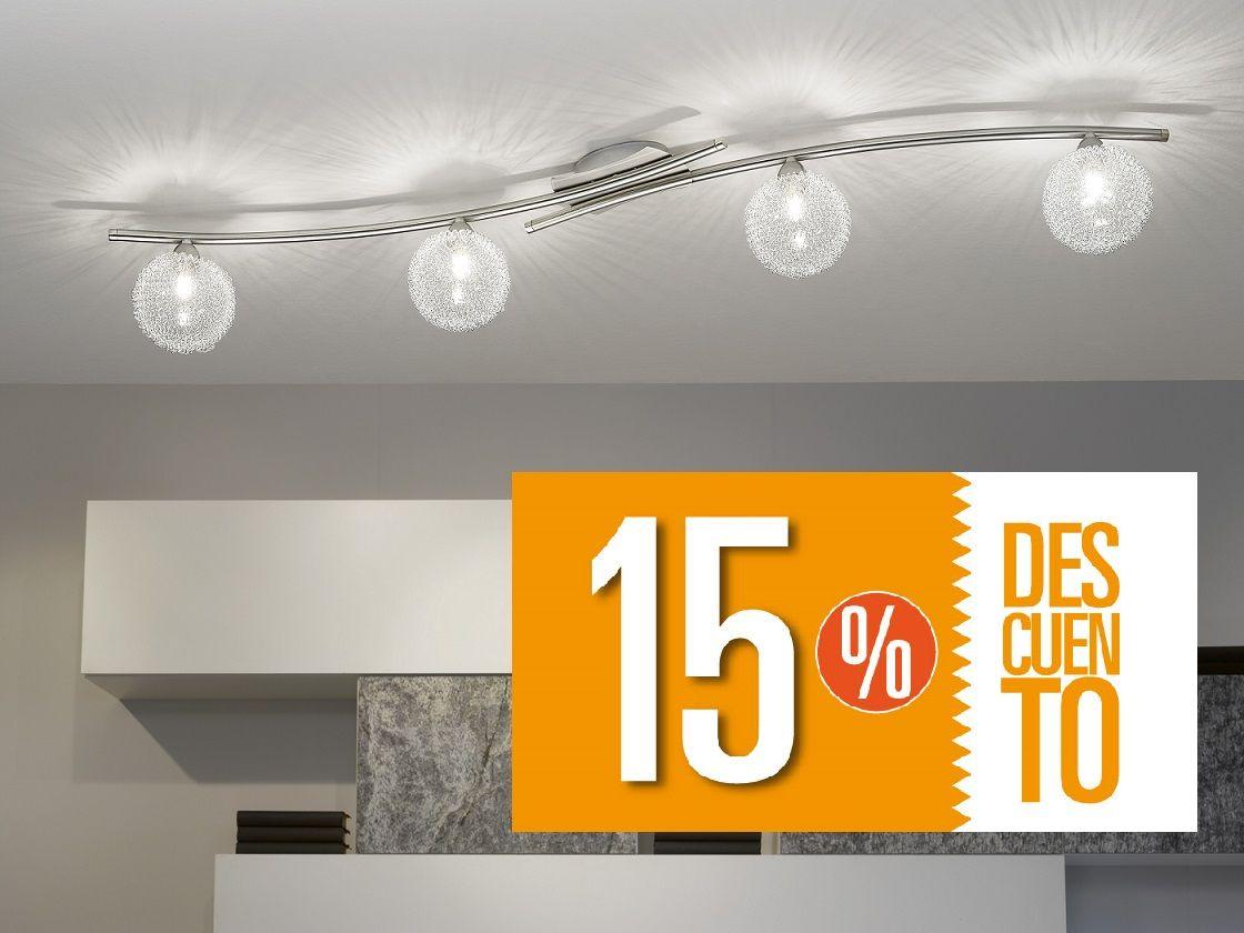 Ideal para la iluminaci n de dormitorios este modelo de l mparas pegadas al techo no invaden el - Lamparas pegadas al techo ...