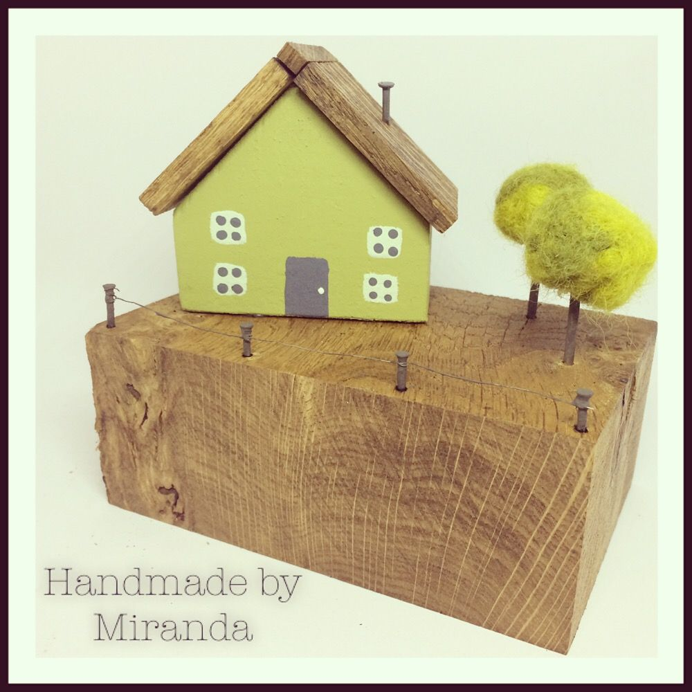 green cottage small ourshop prod houses wooden ornament decorative miniature cottages