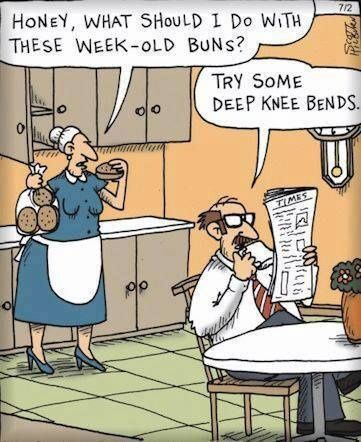 funny week old buns knee bends cartoon funny joke pictures - Halloween Jokes For Seniors