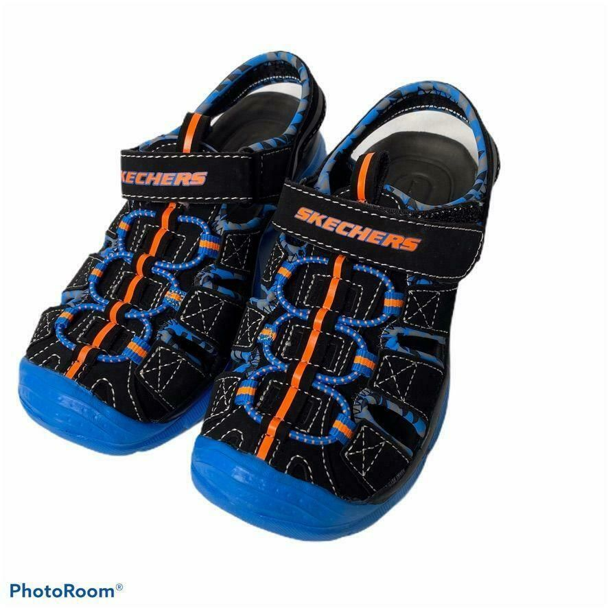 skechers orange sandals