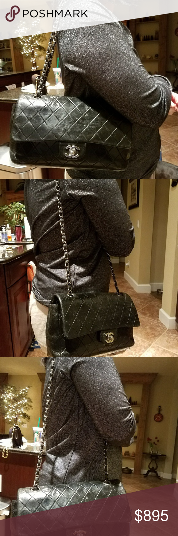 Authentic Chanel Quilted Lambskin DoubleFlap Palla ...