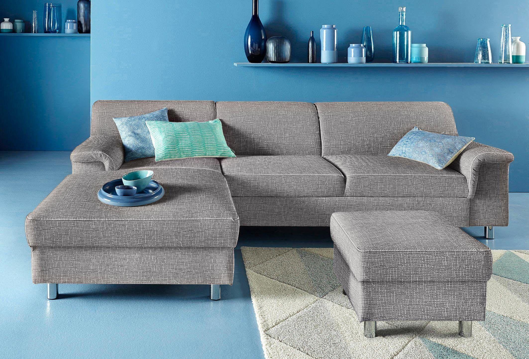 Fresh INOSIGN Ecksofa silber Recamiere links mit Schlaffunktion FSC zertifiziert Jetzt bestellen unter https moebel ladendirekt de wohnzimmer sofas