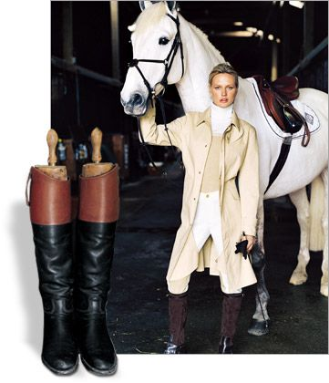 versatility and carefree elegance that make the riding boot a staple for any wardrobe and places it at the top in the pantheon of RL Classics.