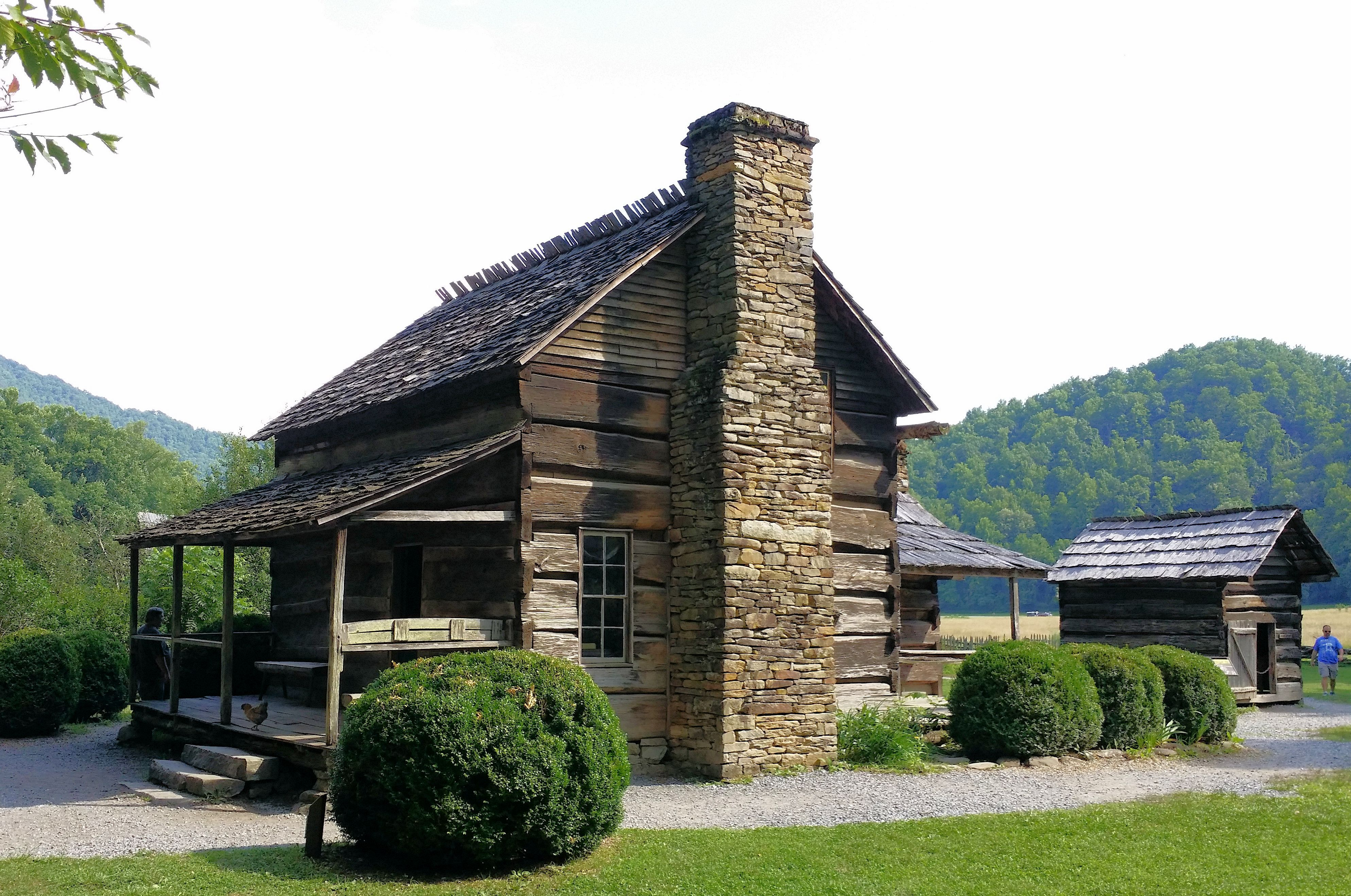 The old John Davis cabin at the Oconaluftee Mountain Farm