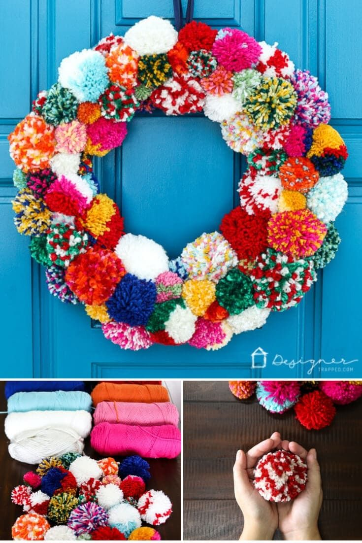 DIY Pom Pom Wreath | Kaleidoscope Living