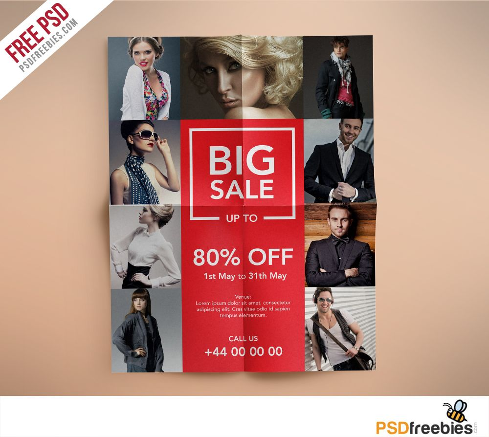 Fashion Retail Sales Flyers Free Psd Template  Sale Flyer Psd