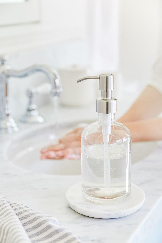 Grove Collaborative Glass Hand Soap Dispenser Glass Soap