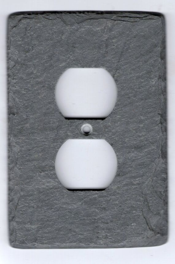 Slate Switch Plate Outlet Cover Unique Vermont Gray Stone Light